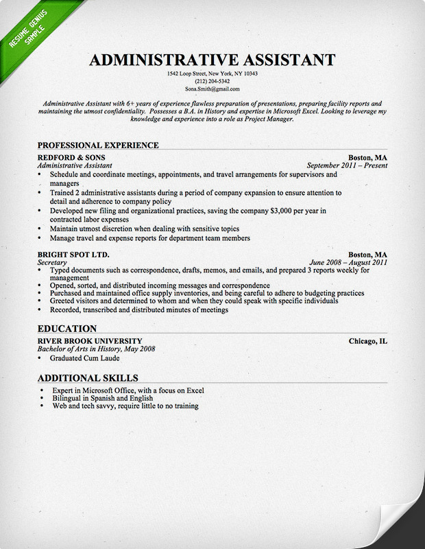Career objective technical resume