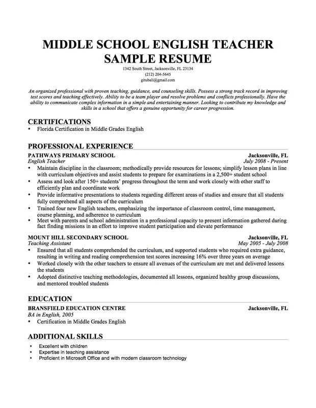 Cover Letter High School Teacher VisualCV Breakupus Remarkable How To  Create An Interactive Resume In Break  Skills For Teacher Resume