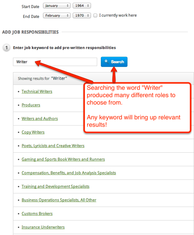 Resume Genius Keyword Search