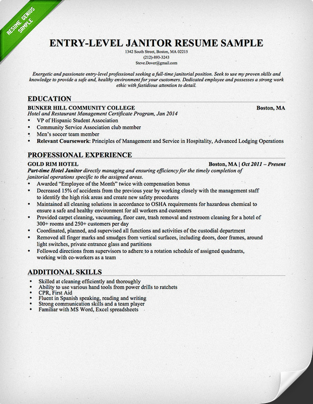 related coursework cv