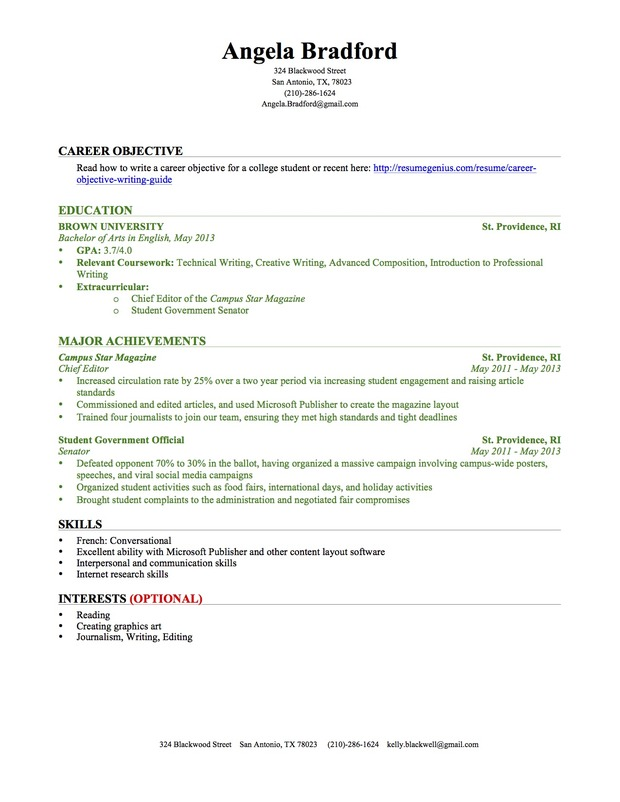 resume no experience by education section resume writing guide resume genius. Resume Example. Resume CV Cover Letter