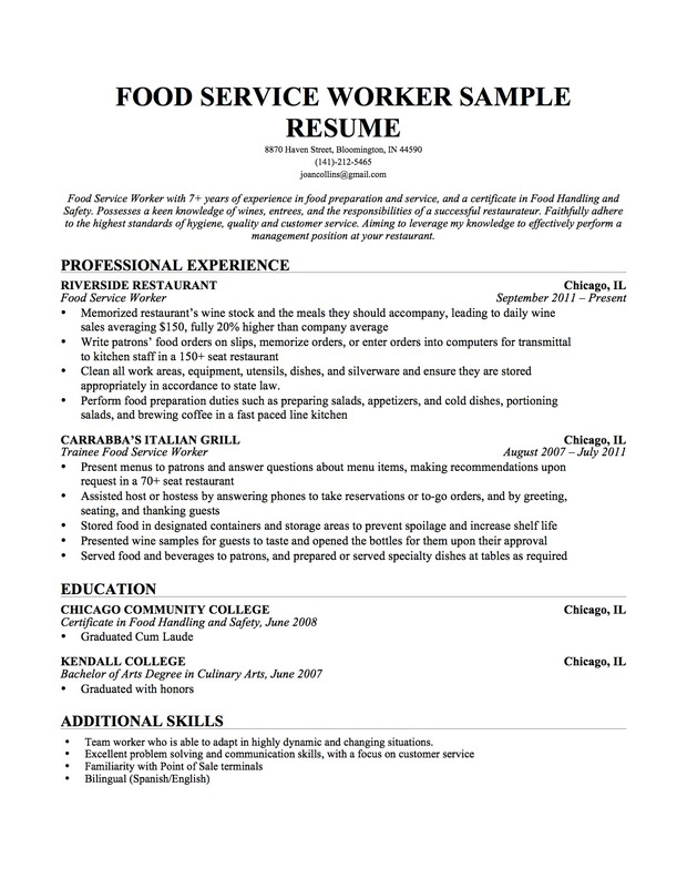 example resume college student