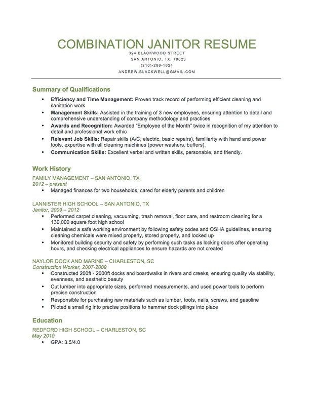 Janitor Resume Sample Janitor Resume,Custodian Resume Format ...