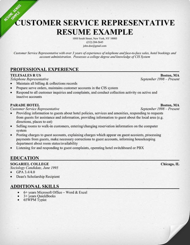 Sample Customer Service Resume Skills] Customer Service Level