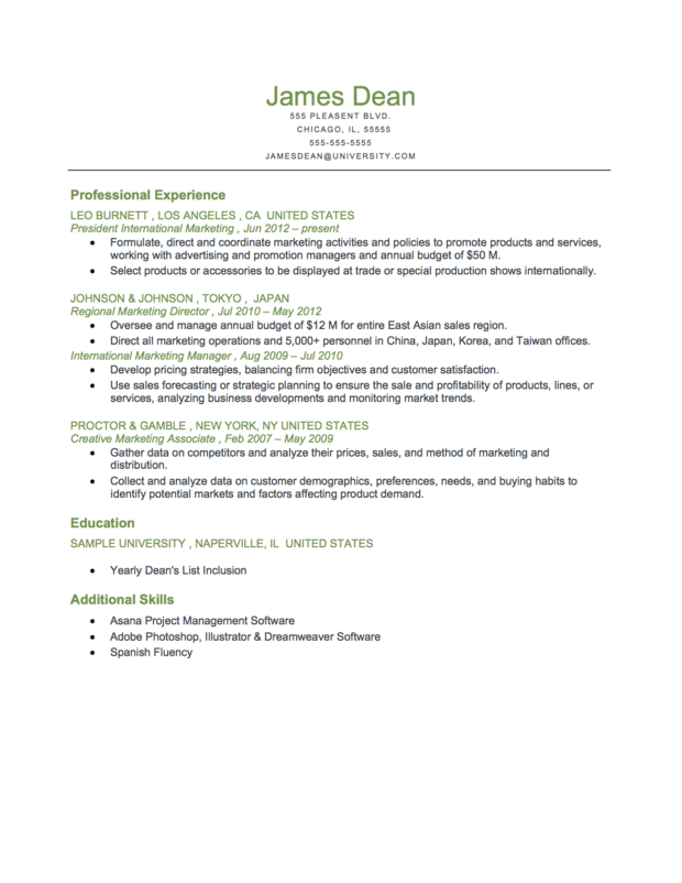 chronological resume template formats executive reverse chronological ...