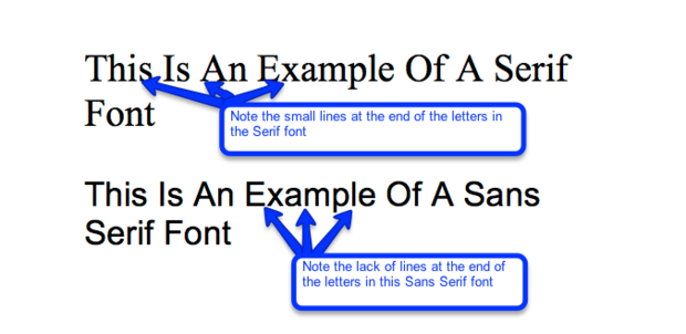 difference between serif and sans serif - Font Size For Resume