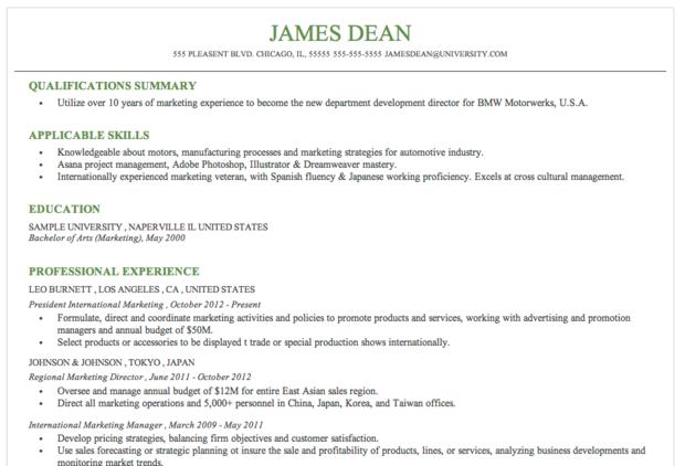 resume format resume format margins
